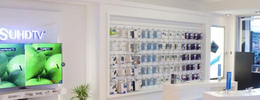 Diseño de locales de tecnología – SAMSUNG – Showroom en Belgrano – Estudio Moeba